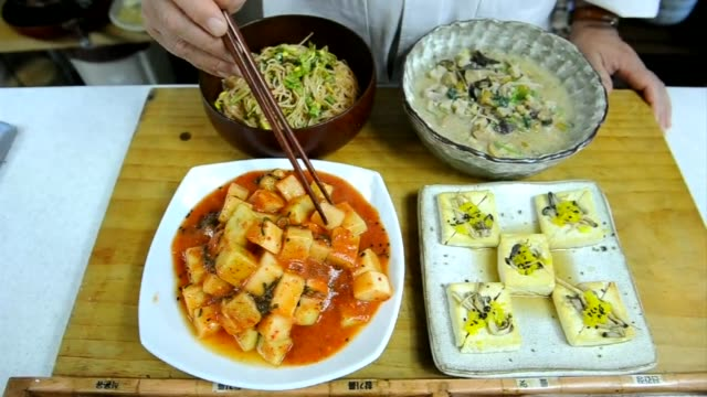 centuries old tradition of buddhist cuisine with strict bars on foods linked to lust or anger is enjoying a revival in south korea one of asias most... - revival stock videos & royalty-free footage