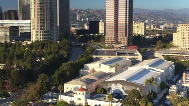 century city and fox studios - drone shot - film studio stock videos & royalty-free footage