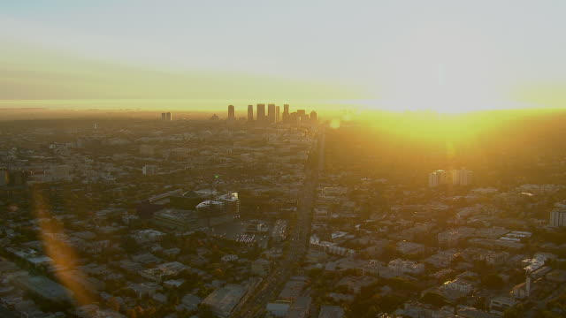 century city los angeles at sunset - beverly hills stock videos & royalty-free footage