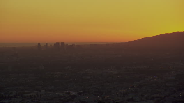 century city to silver lake la at sunset - beverly hills stock videos & royalty-free footage