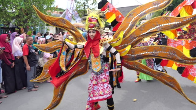 cepu batik carnival. - batik stock videos and b-roll footage