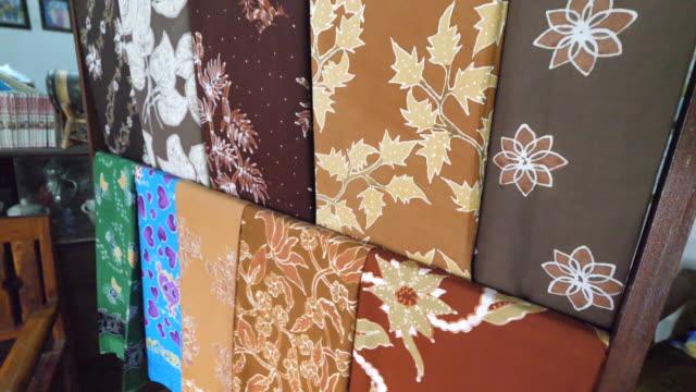 cepu traditional batik maker. - batik stock videos and b-roll footage