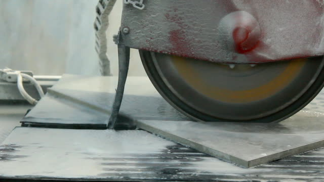 ceramic tile cutting - tile stock videos & royalty-free footage