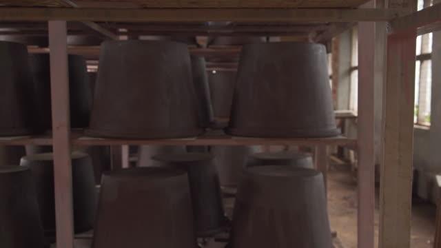 Ceramic water filters drying