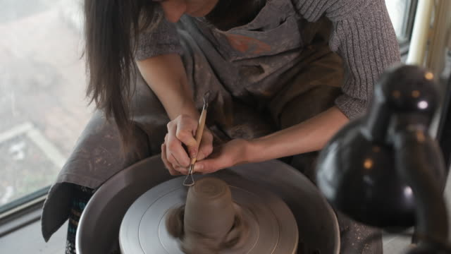 ceramic workshop - pottery stock videos & royalty-free footage