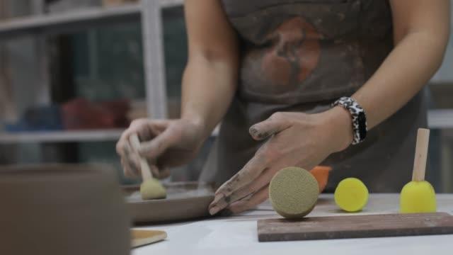 ceramic workshop - ceramic stock videos & royalty-free footage