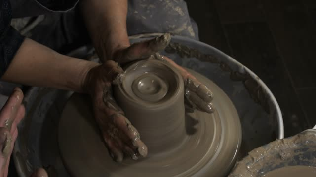 ceramic workshop - potter's wheel stock videos & royalty-free footage