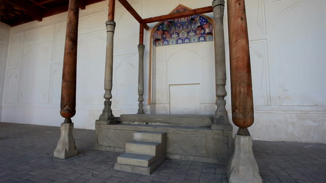 Ceremonial throne of the Emir of Bukhara.