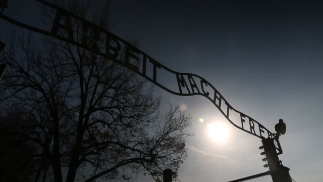 ceremonies marking the 70th anniversary of the liberation of the camp by soviet soldiers are due to take place on january 27 2015 auschwitz was a... - barracks stock videos & royalty-free footage