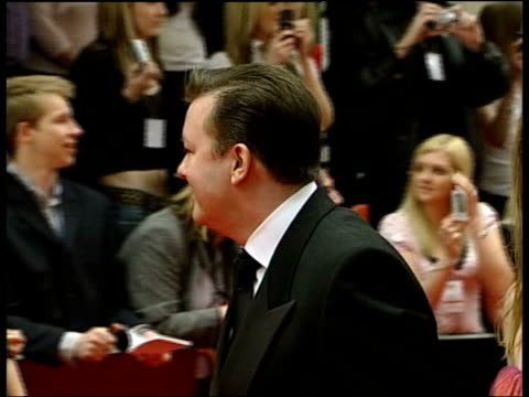 arrivals; ricky gervais arriving - ricky gervais stock videos & royalty-free footage
