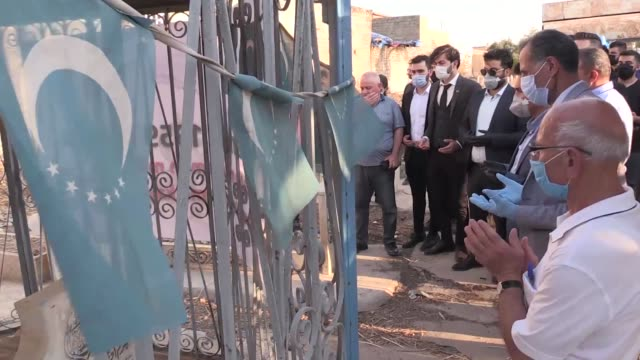 ceremony was held in iraq's northern city of kirkuk on july 13, 2020 to commemorate the 1959 massacre of hundreds of turkmen by members of the... - firing squad stock videos & royalty-free footage