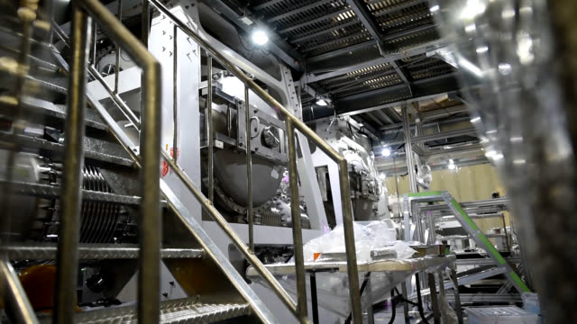 a ceremony was held oct 4 in gifu prefecture to mark the completion of the kagra gravitational wave detector that scientists hope will play a key... - 完了する点の映像素材/bロール
