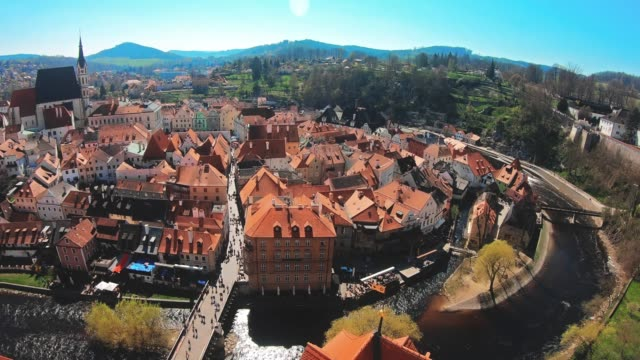 cesky krumlov old town in summer time - czech culture stock videos & royalty-free footage