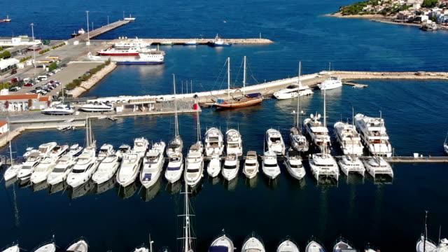 cesme marina - marina stock videos & royalty-free footage
