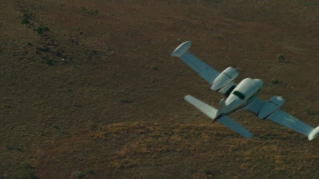 Cessna Flies Across Frame