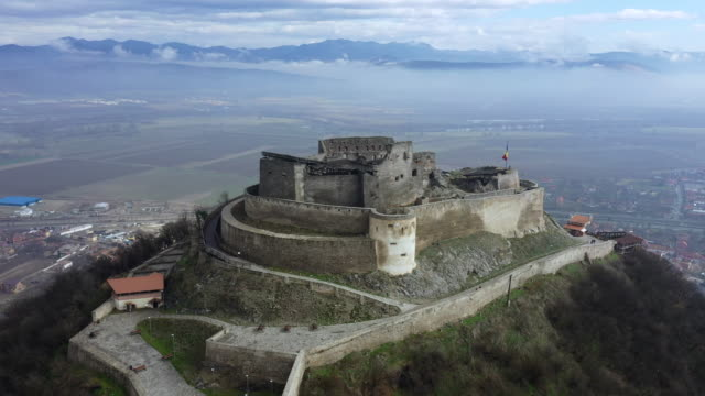 cetatea devei in deva - romania stock videos & royalty-free footage