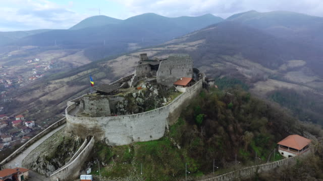 cetatea devei in deva - romania stock videos & royalty-free footage