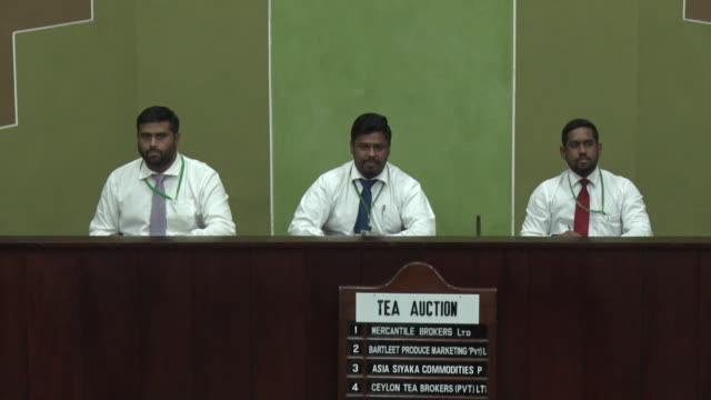 ceylon tea being auctioned at colombo tea auction in sri lanka - sri lankan culture stock videos & royalty-free footage