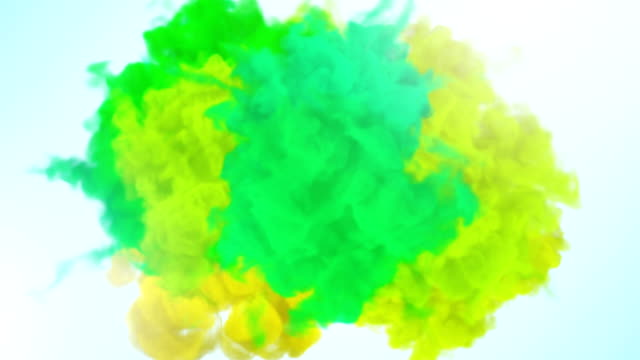 cg animation of powder explosion stock video - powder paint stock videos & royalty-free footage