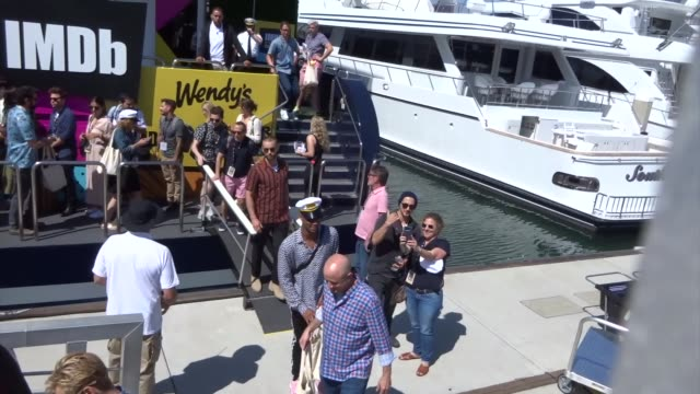 chace crawford, karl urban, jessie t. usher, laz alonso, and antony starr depart the imdboat on day 2 of san diego comic-con international at... - アッシャー点の映像素材/bロール