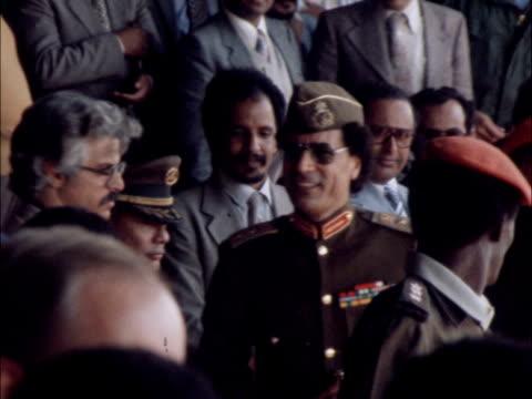 gaddafi along in crowd and kissed - muammar gaddafi stock videos & royalty-free footage
