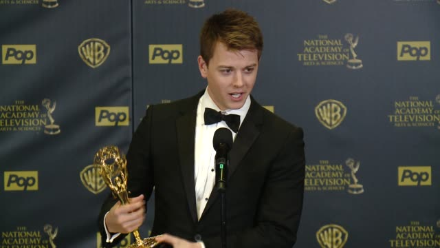SPEECH Chad Duell on winning the award at 42nd Annual Daytime EMMY Awards at Warner Bros Studios on April 26 2015 in Burbank California