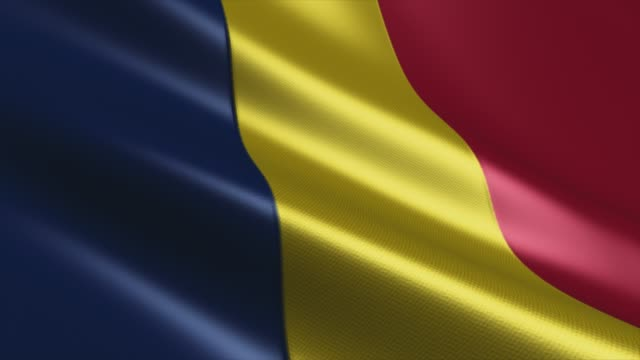 chad flag high detail - looping stock video - lebanon country stock videos & royalty-free footage