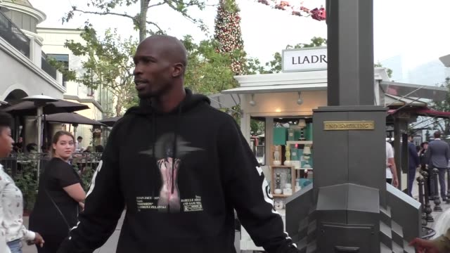 INTERVIEW Chad Johnson on being in shape to play for the New York Giants shopping at The Grove in Los Angeles at Celebrity Sightings in Los Angeles...