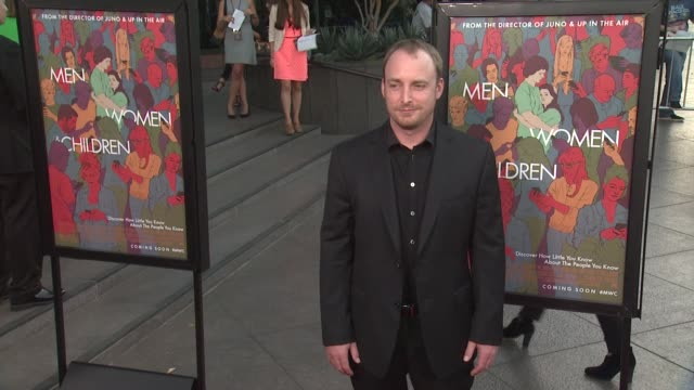 """chad kultgen at """"men, women & children"""" los angeles premiere at directors guild of america on september 30, 2014 in los angeles, california. - director's guild of america stock videos & royalty-free footage"""