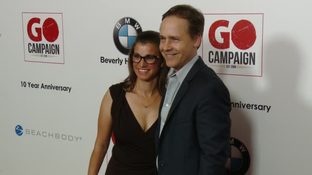 chad lowe and kim painter at go campaign's 10th anniversary on november 05 2016 in los angeles california - chad lowe stock videos & royalty-free footage