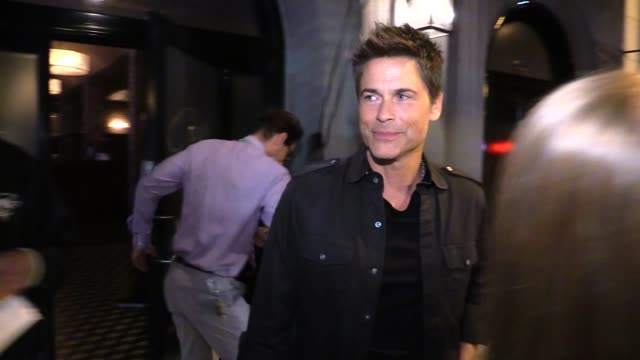 chad lowe rob lowe john owen lowe celebrate rob lowe's birthday at craigs in west hollywood in celebrity sightings in los angeles - rob lowe stock videos & royalty-free footage