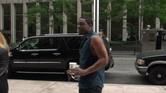 chadwick boseman arrives at the siriusxm satellite radio celebrity sightings in new york on july 28 2014 in new york city - chadwick boseman stock videos and b-roll footage