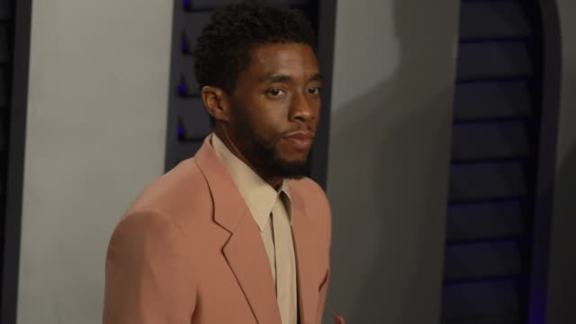chadwick boseman at 2019 vanity fair oscar party hosted by radhika jones at wallis annenberg center for the performing arts on february 24, 2019 in... - vanity fair oscar party stock videos & royalty-free footage