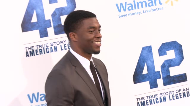 chadwick boseman at 42 los angeles premiere 4/9/2013 in hollywood ca - chadwick boseman stock videos and b-roll footage