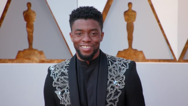 chadwick boseman at 90th academy awards arrivals 4k footage at dolby theatre on march 04 2018 in hollywood california - chadwick boseman stock videos and b-roll footage