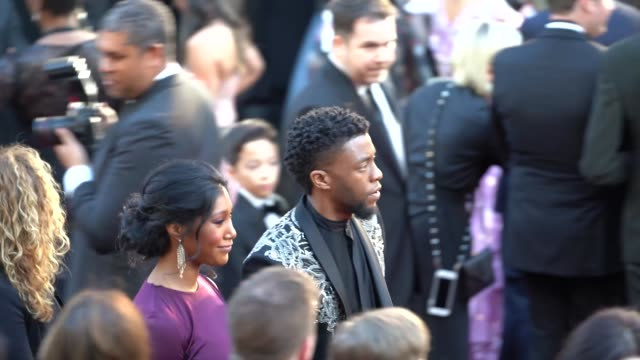 chadwick boseman at 90th academy awards - arrivals - alternative views at dolby theatre on march 04, 2018 in hollywood, california. - the dolby theatre stock videos & royalty-free footage