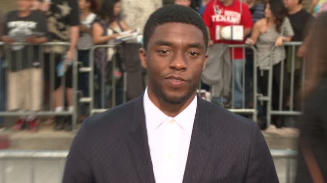 chadwick boseman at draft day los angeles premiere at regency village theatre on april 07 2014 in westwood california - chadwick boseman stock videos and b-roll footage