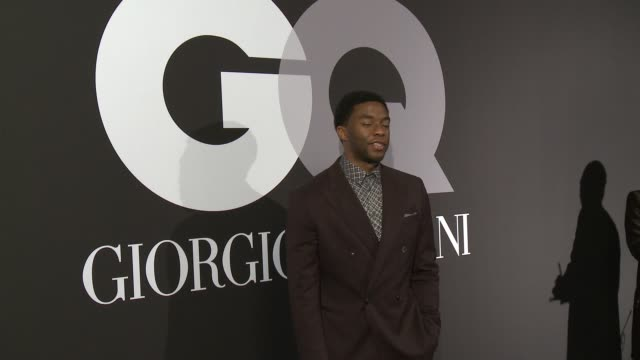 chadwick boseman at gq celebrates the grammys with giorgio armani at hollywood athletic club on february 08 2015 in hollywood california - chadwick boseman stock videos and b-roll footage