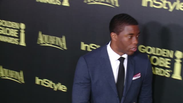 chadwick boseman at hfpa and instyle celebrate the 2014 golden globe awards season at fig olive melrose place on november 20 2014 in west hollywood... - chadwick boseman stock videos and b-roll footage