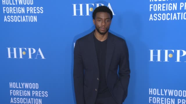 chadwick boseman at hollywood foreign press association's grants banquet in los angeles ca - chadwick boseman stock videos and b-roll footage