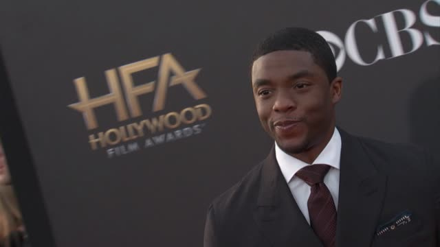 chadwick boseman at the 2014 hollywood film awards in los angeles ca - chadwick boseman stock videos and b-roll footage