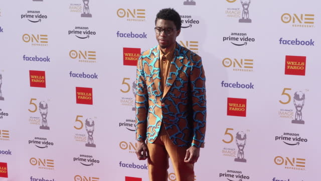 chadwick boseman at the 50th naacp image awards at dolby theatre on march 30 2019 in hollywood california - chadwick boseman stock videos and b-roll footage