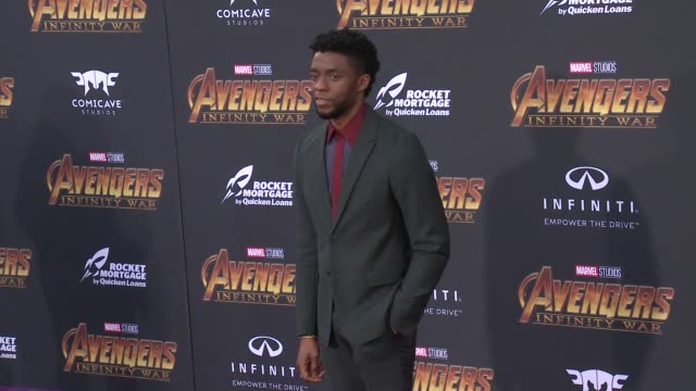Chadwick Boseman at the Avengers Infinity War World Premiere on April 23 2018 in Hollywood California
