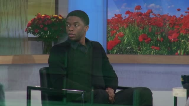 chadwick boseman at the 'good morning america' studio chadwick boseman at the 'good morning america' on april 15 2013 in new york new york - chadwick boseman stock videos and b-roll footage