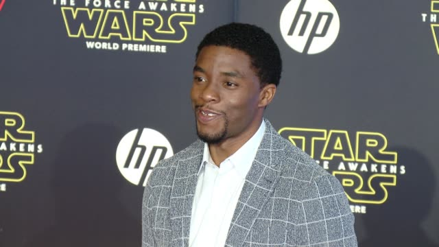 chadwick boseman at the star wars the force awakens world premiere at tcl chinese theatre on december 14 2015 in hollywood california - chadwick boseman stock videos and b-roll footage