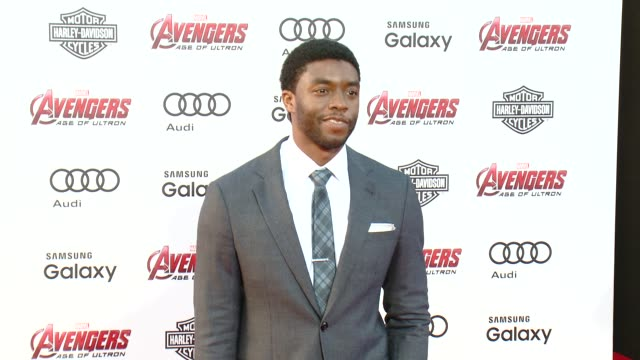chadwick boseman at the world premiere of marvel's avengers age of ultron at dolby theatre on april 13 2015 in hollywood california - chadwick boseman stock videos and b-roll footage