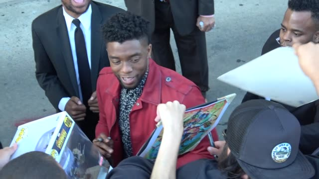 Infinity War signs autographs for fans outside Jimmy Kimmel Live in Hollywood in Celebrity Sightings in Los Angeles