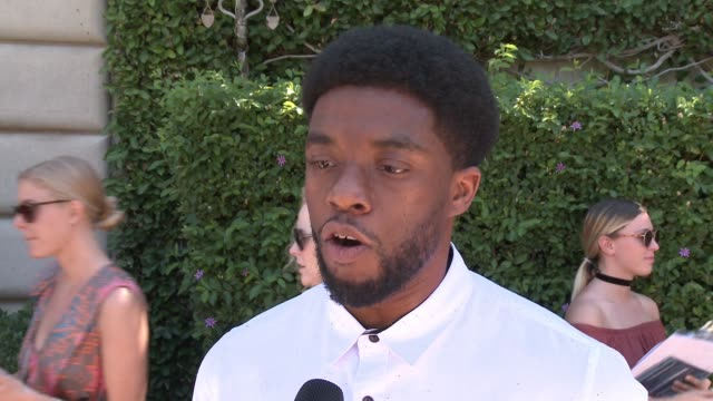 INTERVIEW Chadwick Boseman on why he came out to support this cause on his friend Viola Davis and the impact she is making by being a voice to this...
