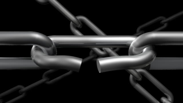 chain 01 weak link snaps - link chain part stock videos & royalty-free footage