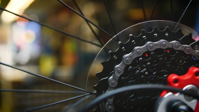 chain and cassette on bike wheel - chain stock videos & royalty-free footage